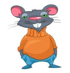 cartoon character rat vector image