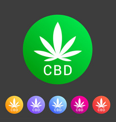 cbd marijuana cannabis icon flat web sign symbol vector image