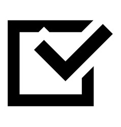 check sign icon simple style vector image