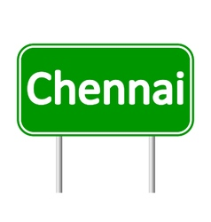 Chennai road sign vector