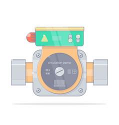 Circulation pump realistic cartoon styl vector