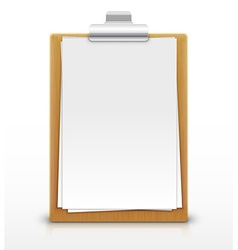 clipboard with empty sheet of paper vector image