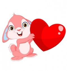 cute bunny Valentine's vector image