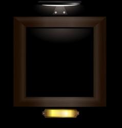 dark wooden frame vector image