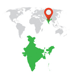 Detailed map of india and world map navigation vector