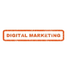 Digital Marketing Rubber Stamp vector
