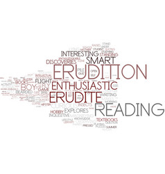 Erudition word cloud concept vector