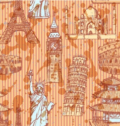 Europe Travel Pattern vector