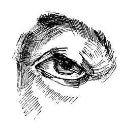Eye sketch vector