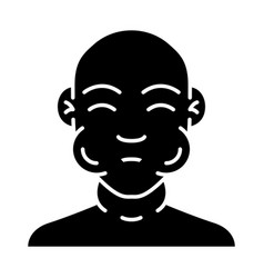 Face swelling glyph icon vector