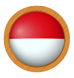Flag of indonesia on round badge vector