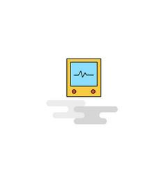 flat ecg icon vector image
