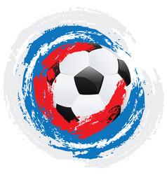 football ball and strokes vector image