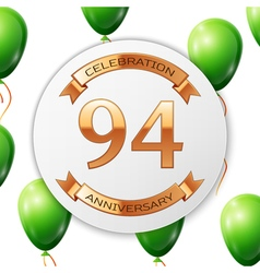 Golden number ninety four years anniversary vector