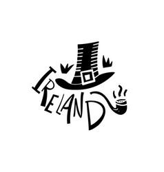 hand drawn ireland logo travel of republic vector image