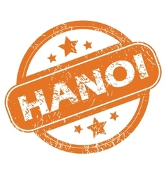 Hanoi round stamp vector