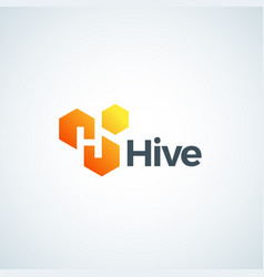 hive absrtract sign symbol or logo vector image