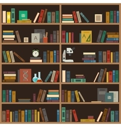 Home library flat vector