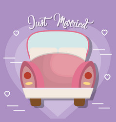 Just married design vector