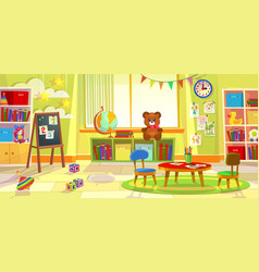 kids playroom kindergarten child apartment game vector image