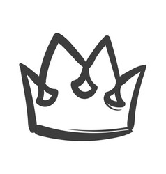 king sketch crown ink drawing royal imperial vector image