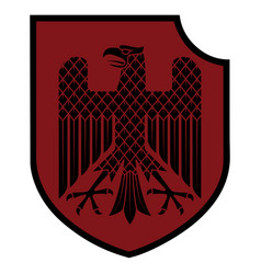 Knight heraldic emblem german heraldic shield vector