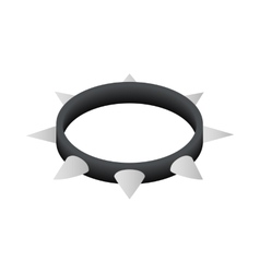 Leather fetish collar icon isometric 3d style vector
