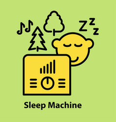 line icon of sleep machine vector image