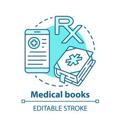 Medical books concept icon health treatment vector