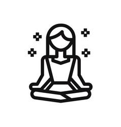 meditation icon vector image