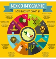 Mexico infographic elements flat style vector image
