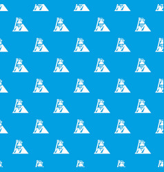 mine pattern seamless blue vector image