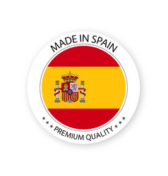 Modern made in spain label vector