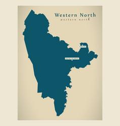 Modern map - western north region map ghana gh vector
