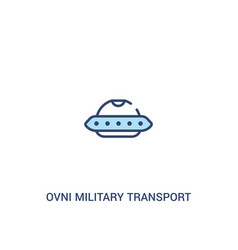 Ovni military transport concept 2 colored icon vector