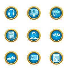 parley icons set flat style vector image
