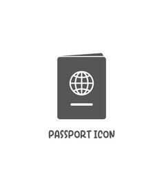 passport icon simple flat style vector image