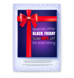 Poster for ads of black friday sale special offer vector
