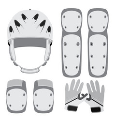 Protective gear for skateboarding roller skating vector