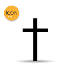 religion cross icon flat style vector image