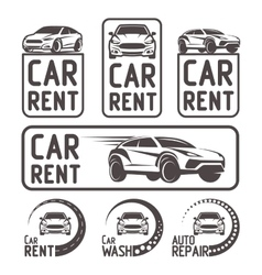 Rental Car repair wash Logo Template Design vector image