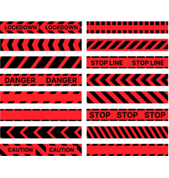 Restrictive stop marking tape pattern seamless vector