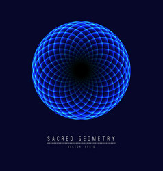 Sacred geometry line element flower of life vector
