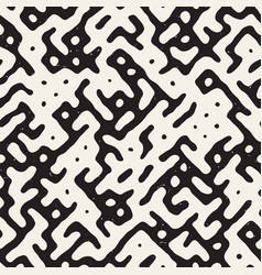seamless black and white rounded irregular maze vector image