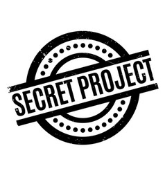 Secret project rubber stamp vector