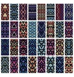 Set of 32 patterns vector image