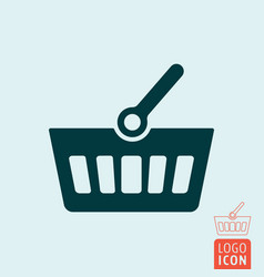 Shopping basket icon isolated vector