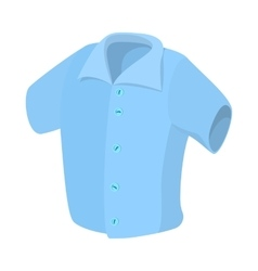 Short sleeved men shirt icon cartoon style vector