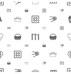 Sign icons pattern seamless white background vector