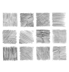 Sketch hatching pen doodle freehand line strokes vector
